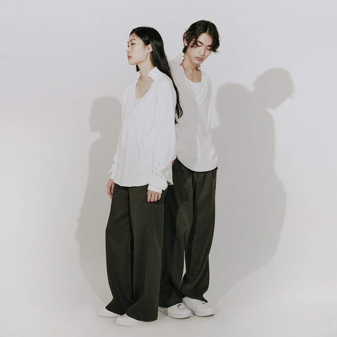 [2차]two tuck pants (khaki)