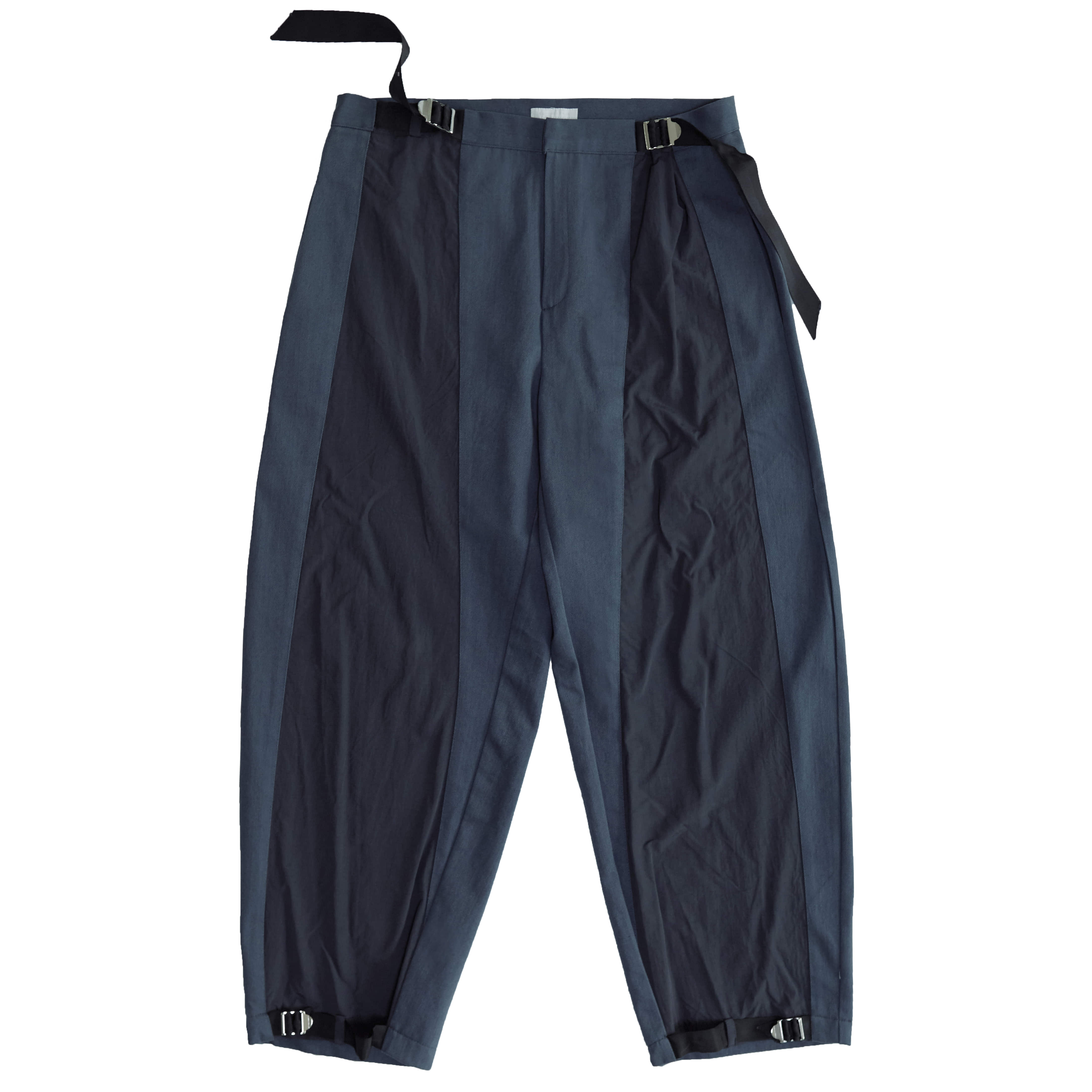 belted track pants (navy)