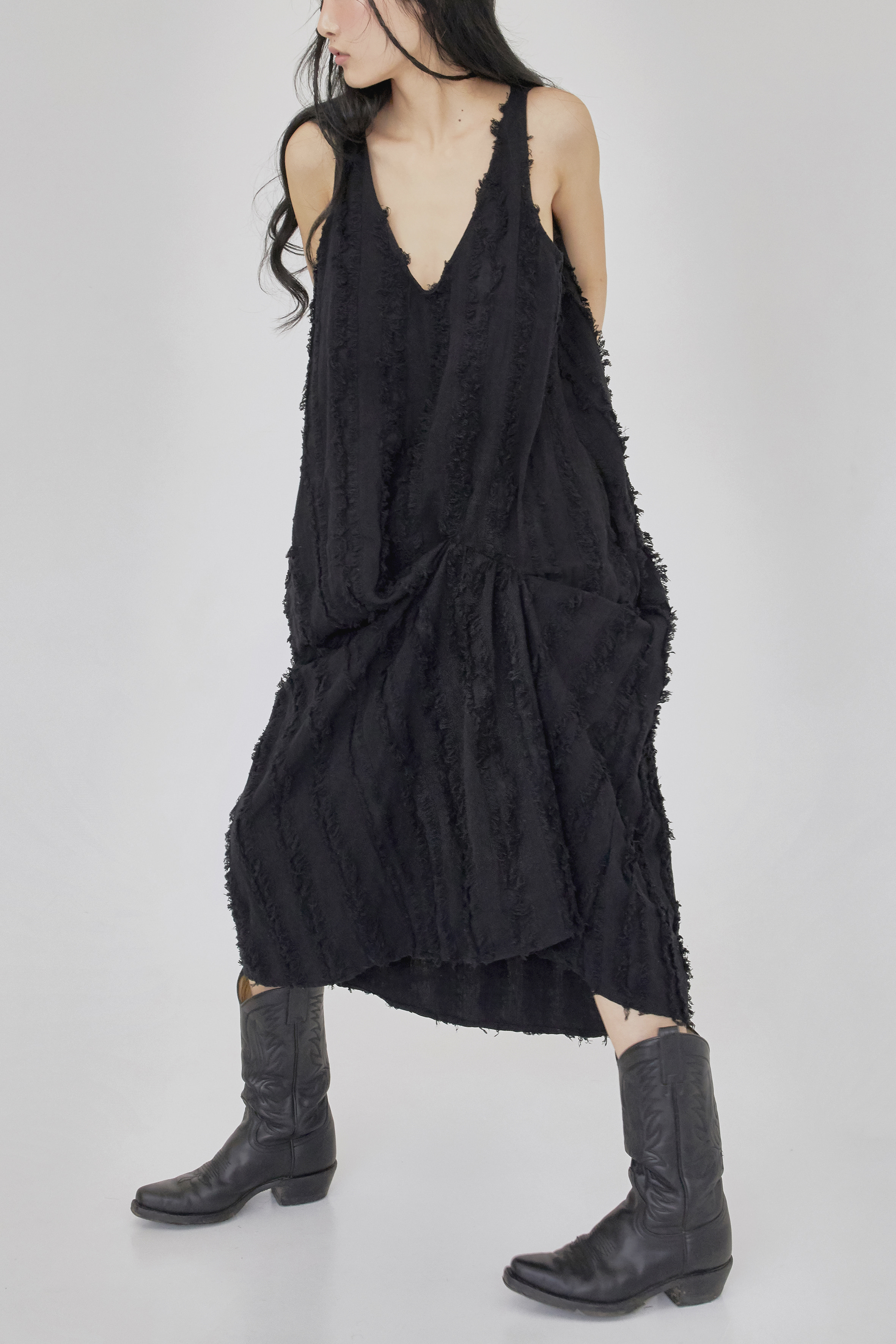 tassel dress (black)