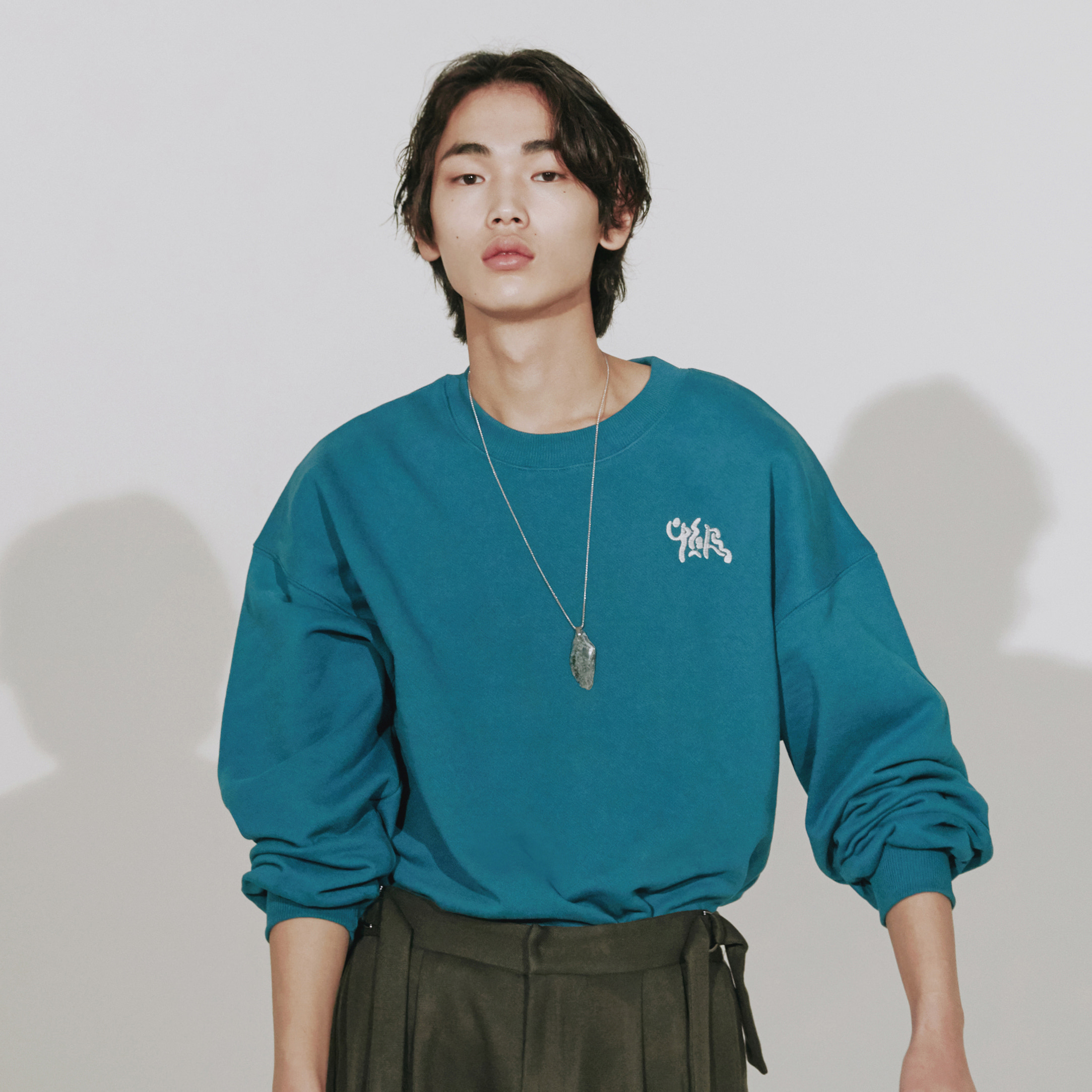 'ourmtm' sweat shirt (turquoise)