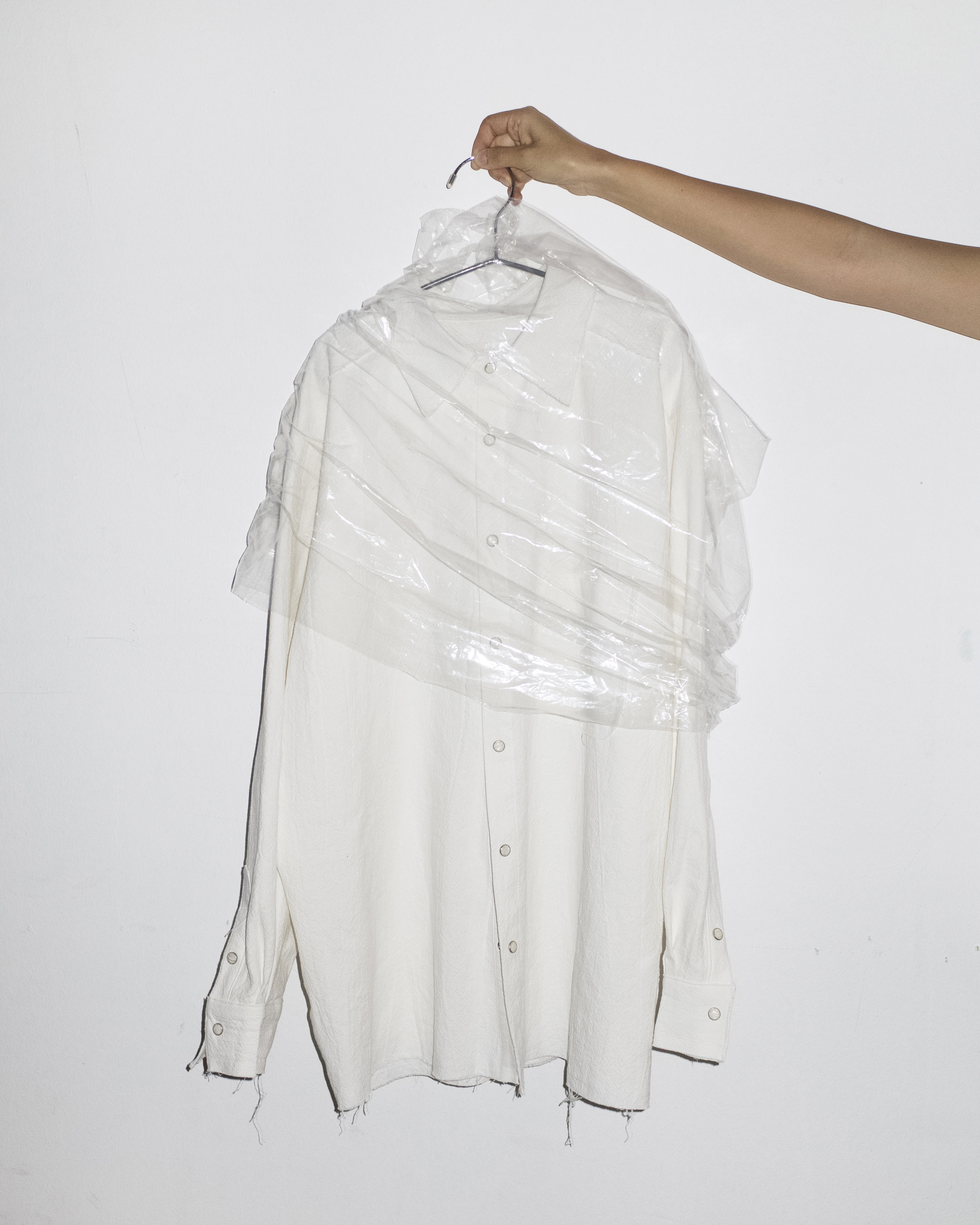 raw cut shirt (white)