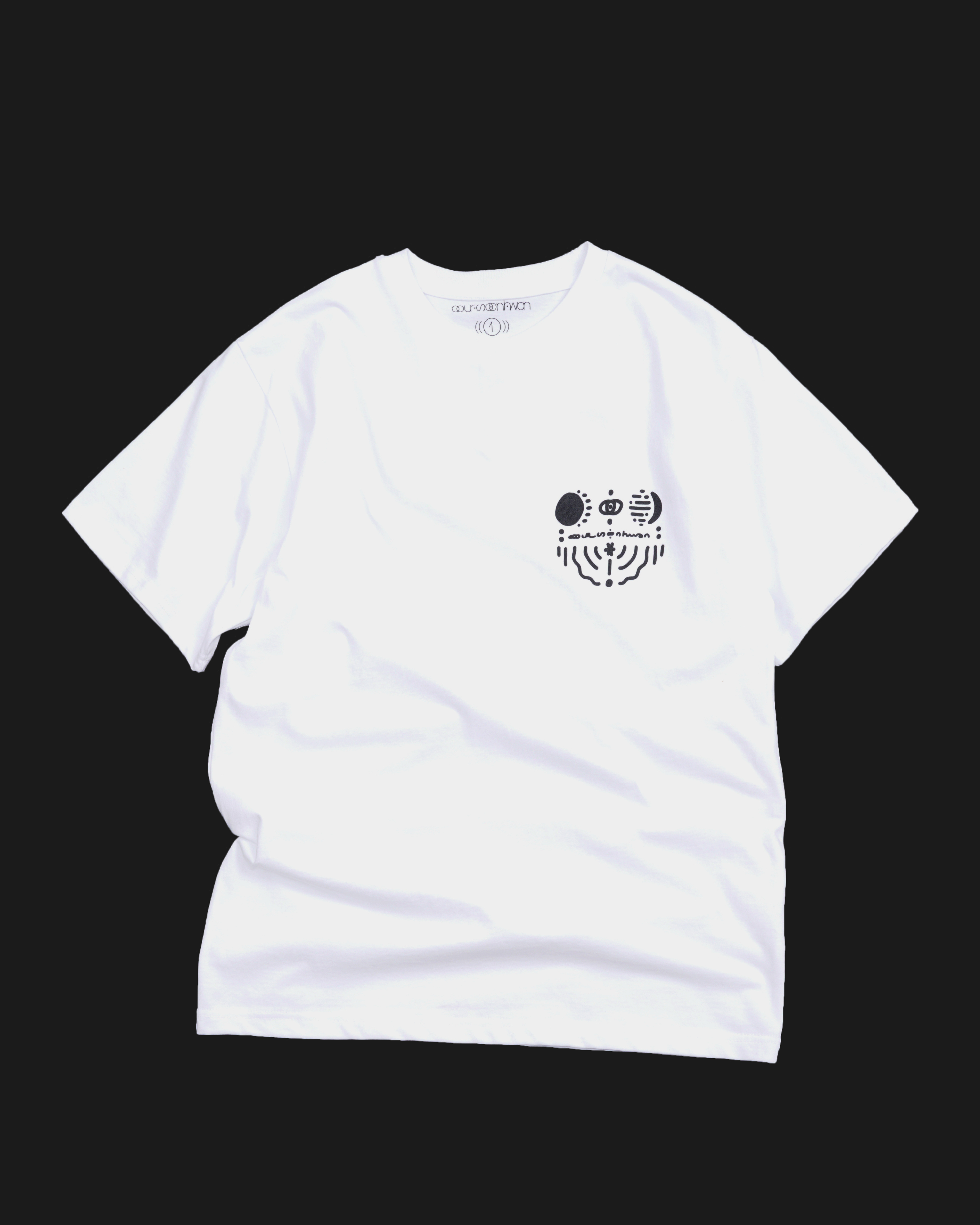 2021 T shirts [moon wave] white